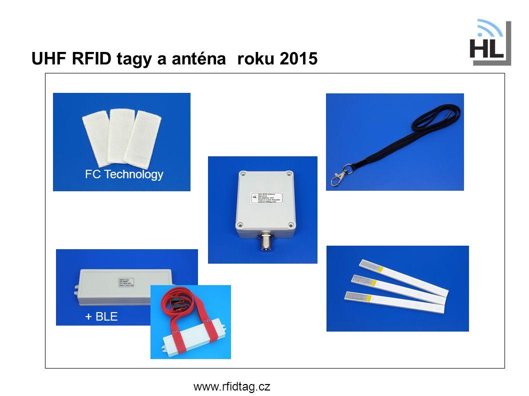UHF RFID tagy a anténa roku 2015 www.rfidtag.cz Průmyslový patent FC Technology + BLE
