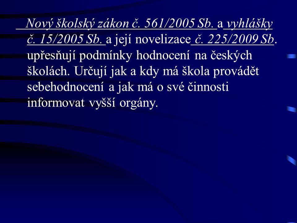 Nový školský zákon č. 561/2005 Sb. a vyhlášky č.