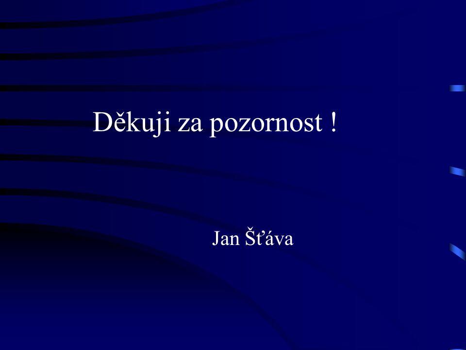 Děkuji za pozornost ! Jan Šťáva