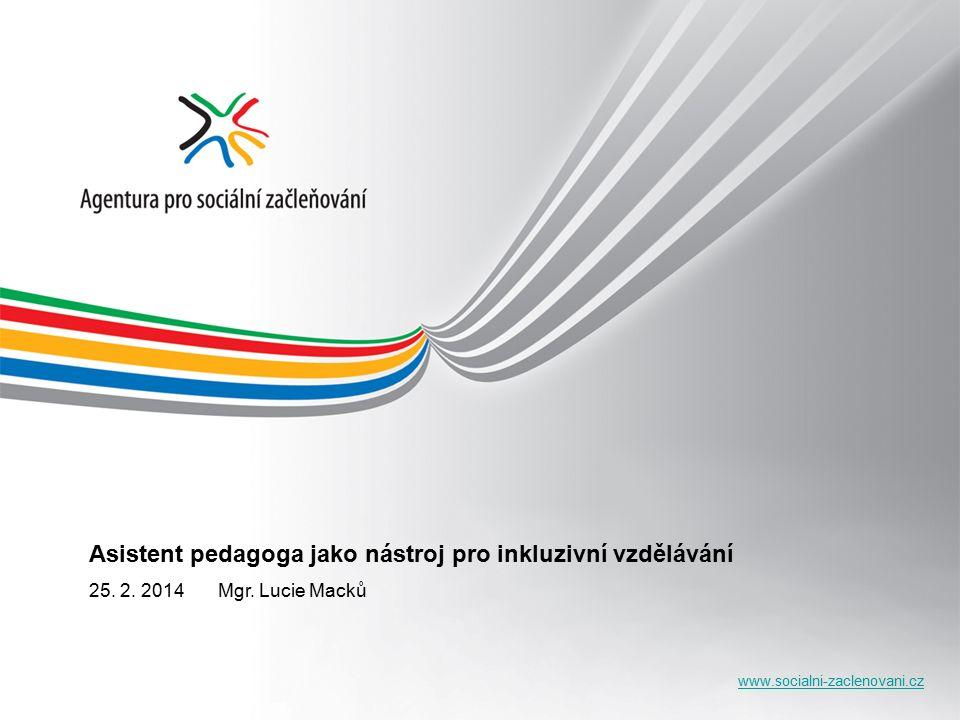 www.socialni-zaclenovani.cz Asistent pedagoga jako nástroj pro inkluzivní vzdělávání 25.