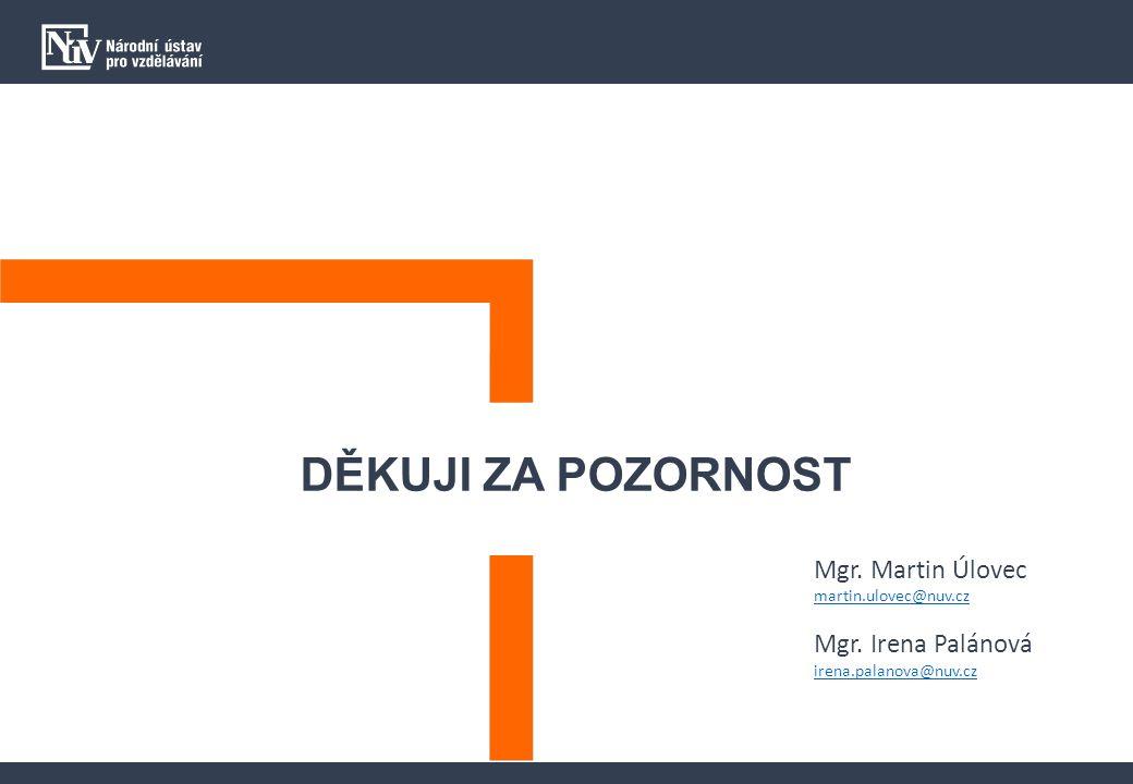 DĚKUJI ZA POZORNOST Mgr. Martin Úlovec martin.ulovec@nuv.cz Mgr.