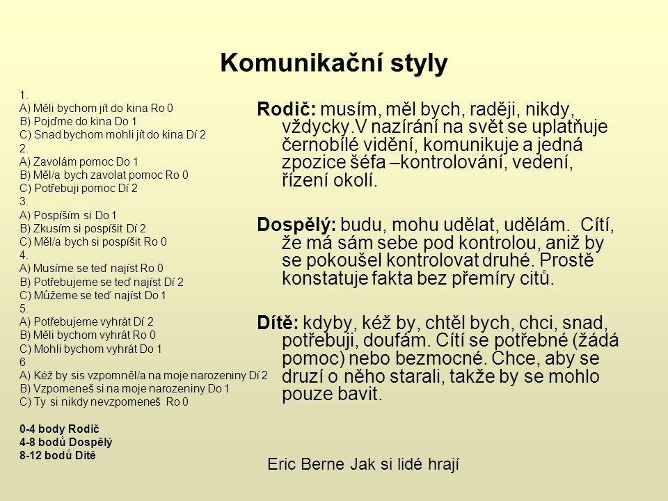 Komunikační styly 1.