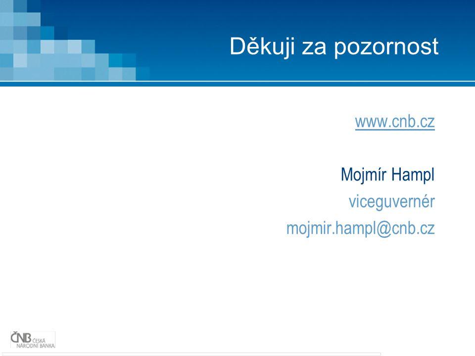 Děkuji za pozornost www.cnb.cz Mojmír Hampl viceguvernér mojmir.hampl@cnb.cz