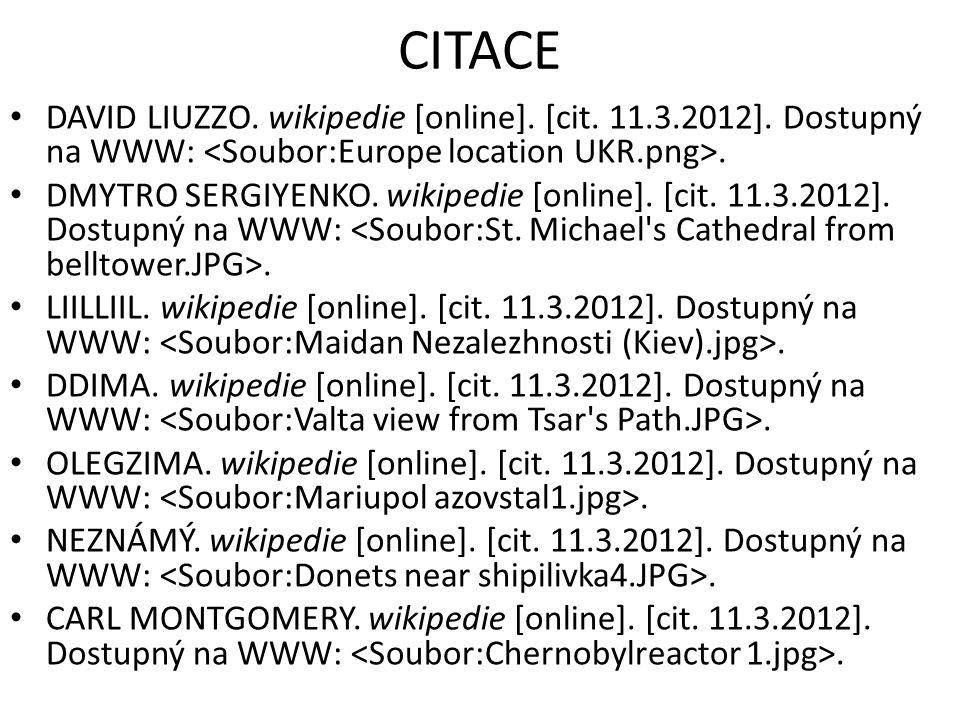 CITACE DAVID LIUZZO. wikipedie [online]. [cit. 11.3.2012].