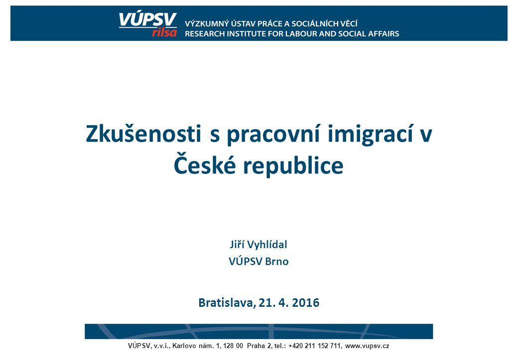 Pozitivní a negativní efekty legální pracovní imigrace poměřovány ve vztahu k veřejným rozpočtům (okamžité vs.