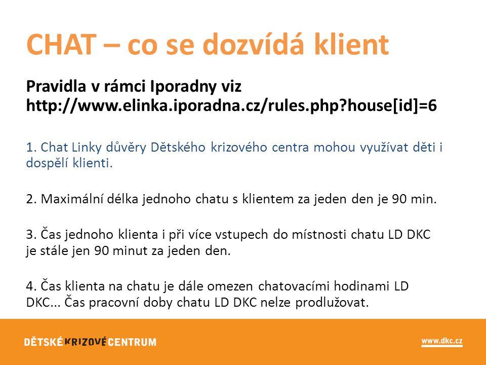 Pravidla v rámci Iporadny viz http://www.elinka.iporadna.cz/rules.php?house[id]=6 1.