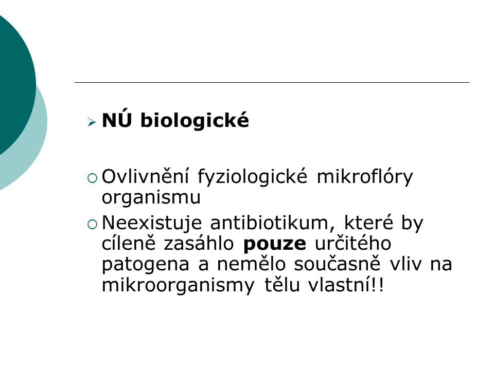 Rezistence  = necitlivost mikroorganismů k antimikrobiálním látkám 1) Primární(přirozená) 2) Získaná  Změna cílové molekuly  Zhoršený průnik antibiotika do buňky  Aktivní eflux  Inaktivace vlivem bakteriálních enzymů (betalaktamázy)