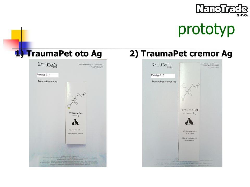 prototyp 1) TraumaPet oto Ag2) TraumaPet cremor Ag