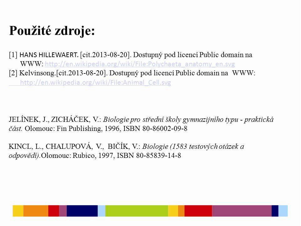 Použité zdroje: [1] HANS HILLEWAERT. [cit.2013-08-20]. Dostupný pod licencí Public domain na WWW: http://en.wikipedia.org/wiki/File:Polychaeta_anatomy