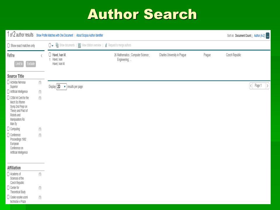 Author Citation Overview