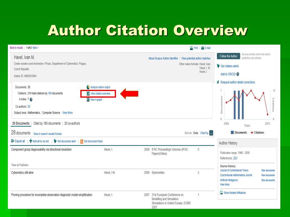 Journal Citation Overview
