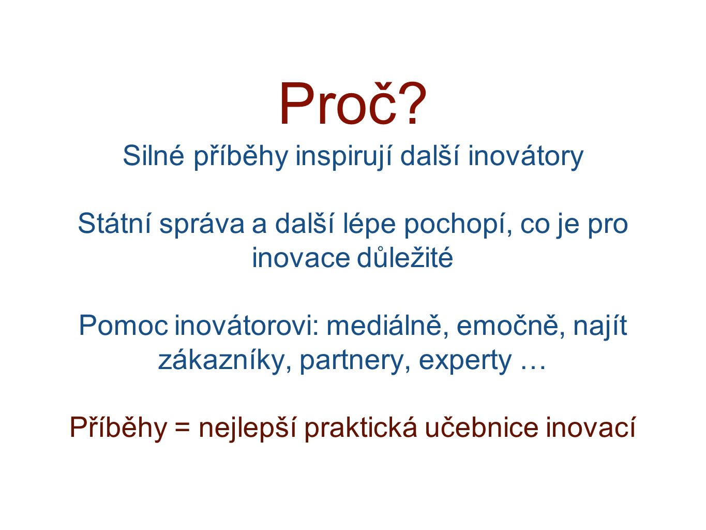 Cíl / poslání: Najít nejslibnější české projekty (celkem 12 za rok) z výzkumu a vývoje, které mají potenciál uplatnit se v praxi.