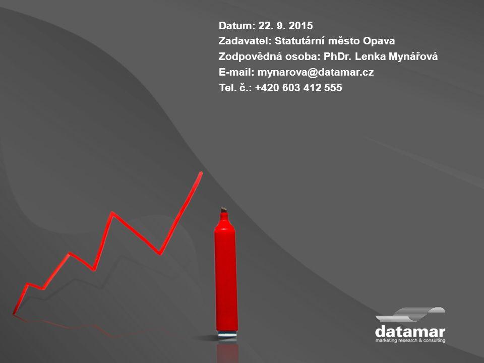 Datum: 22. 9. 2015 Zadavatel: Statutární město Opava Zodpovědná osoba: PhDr.