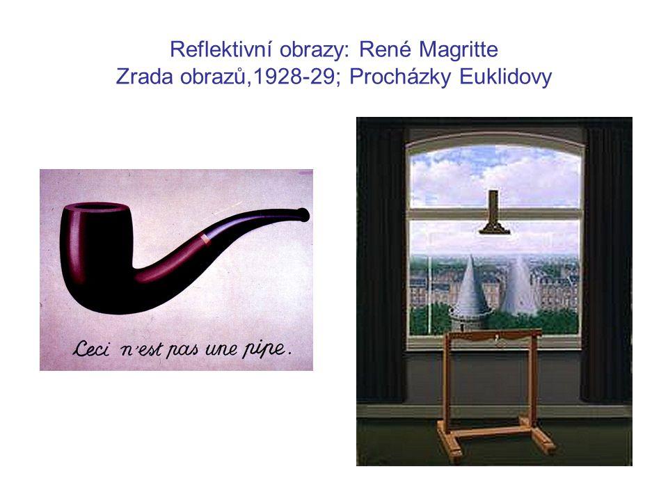 Reflektivní obrazy: René Magritte Zrada obrazů,1928-29; Procházky Euklidovy