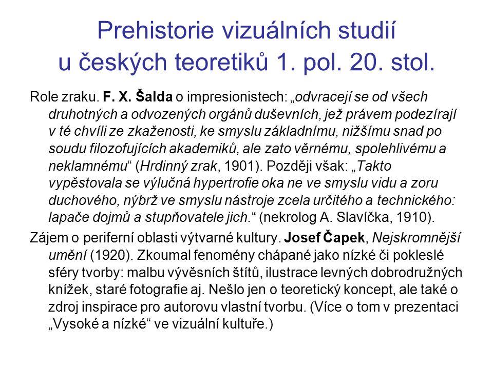 Prehistorie vizuálních studií u českých teoretiků 1.