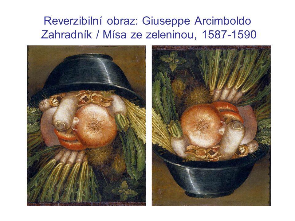 Reverzibilní obraz: Giuseppe Arcimboldo Zahradník / Mísa ze zeleninou, 1587-1590