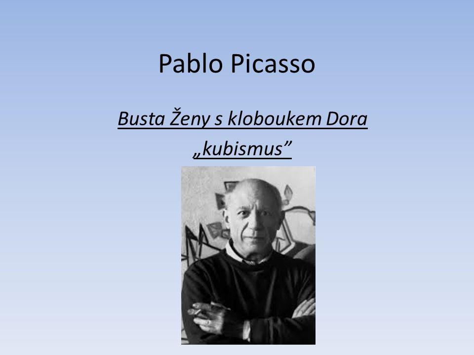 "Pablo Picasso Busta Ženy s kloboukem Dora ""kubismus"