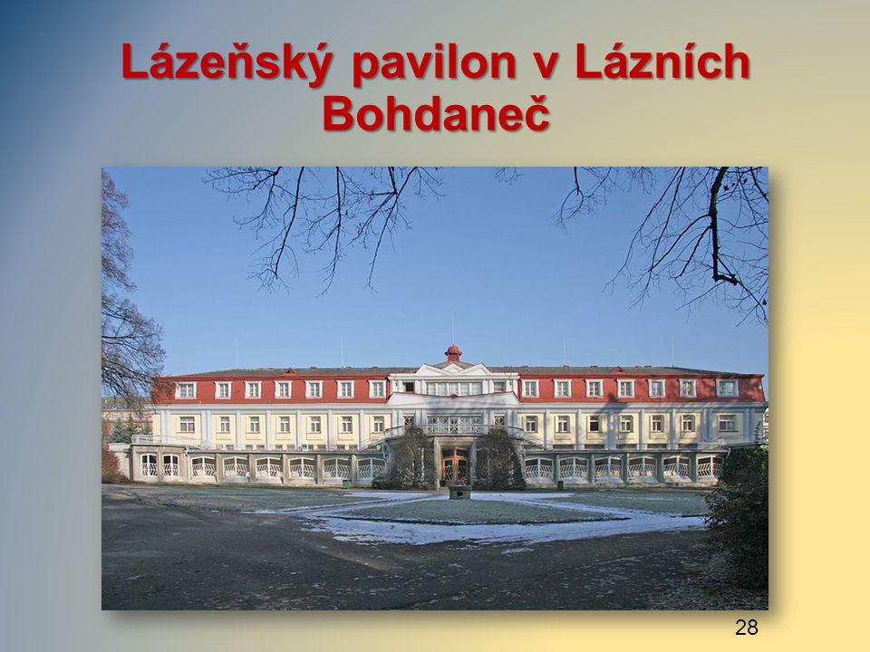 Lázeňský pavilon v Lázních Bohdaneč 28