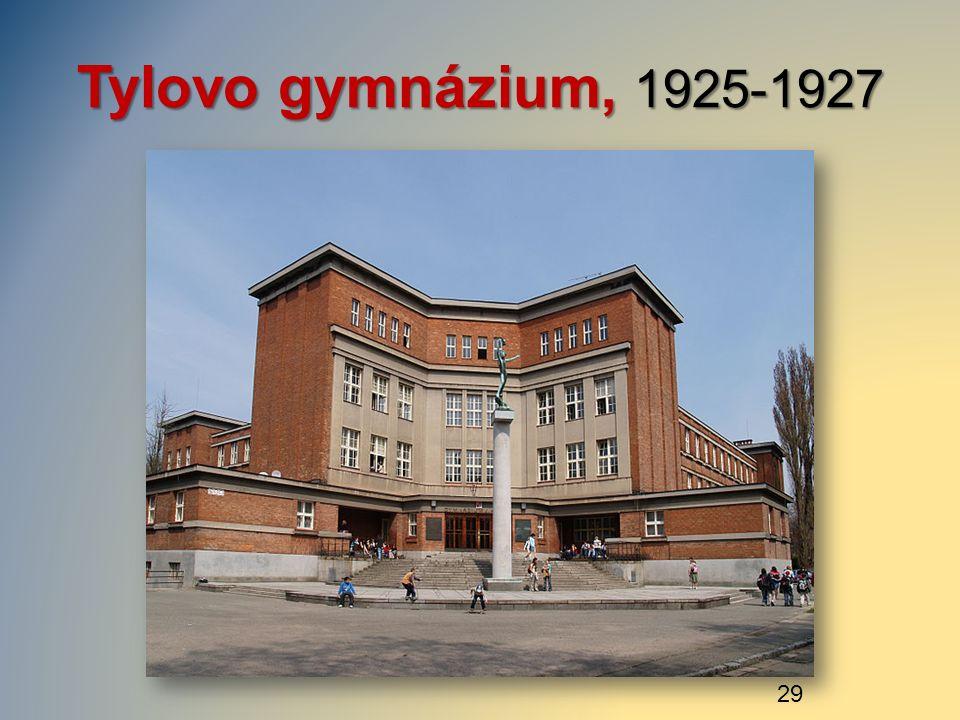 Tylovo gymnázium, 1925-1927 29