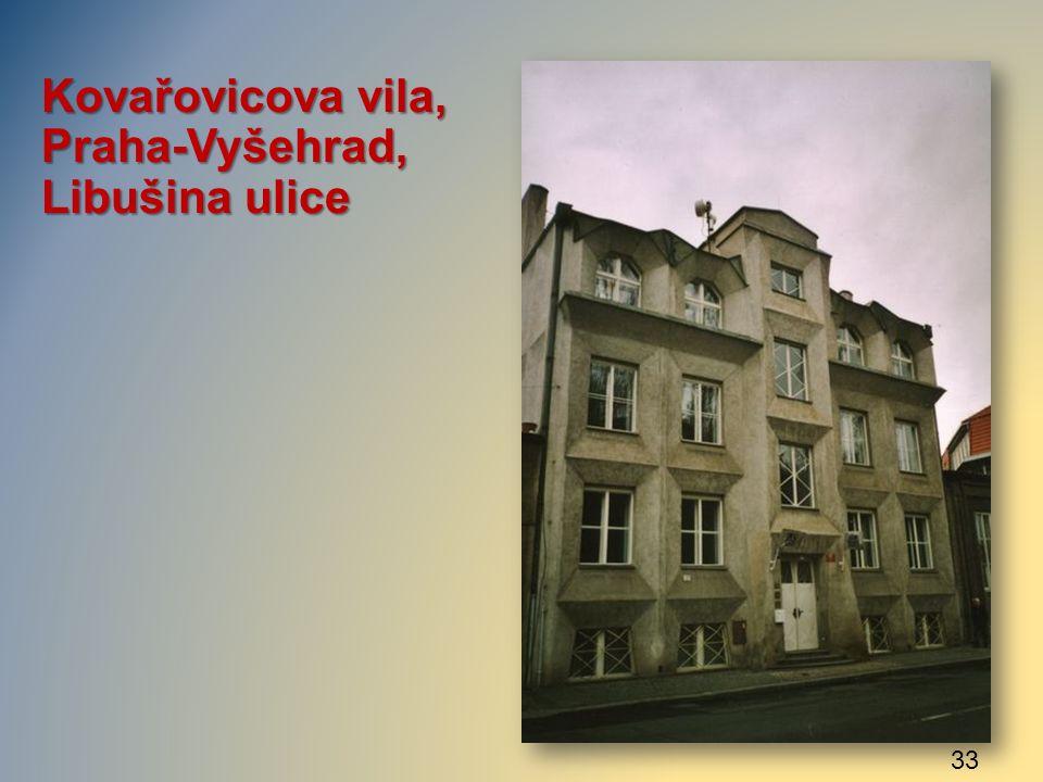Kovařovicova vila, Praha-Vyšehrad, Libušina ulice 33