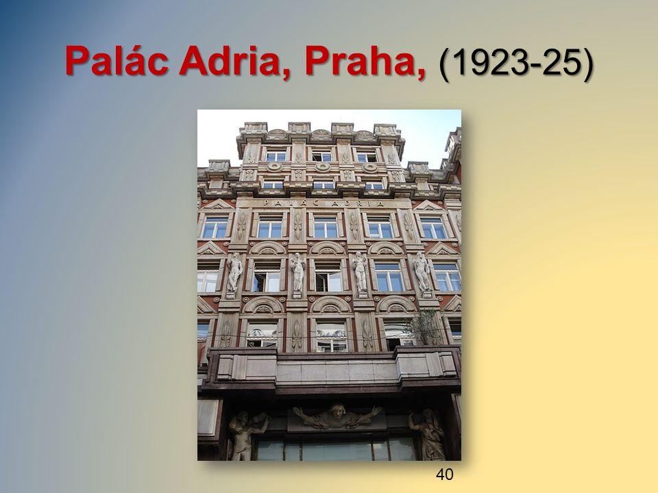 Palác Adria, Praha, (1923-25) 40