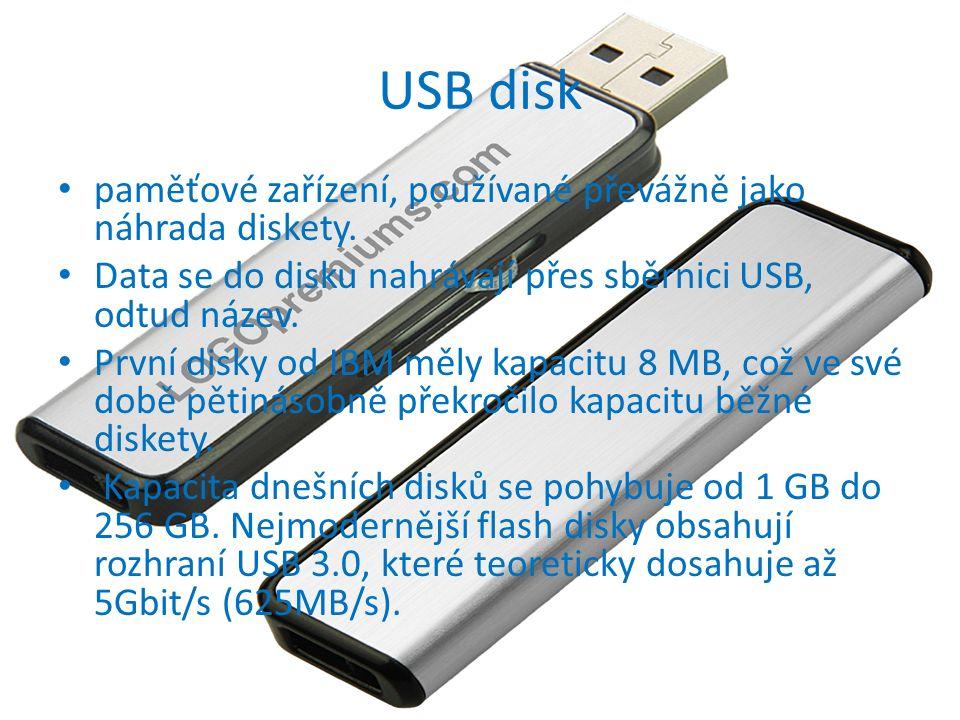 USB disk paměťové zařízení, používané převážně jako náhrada diskety.
