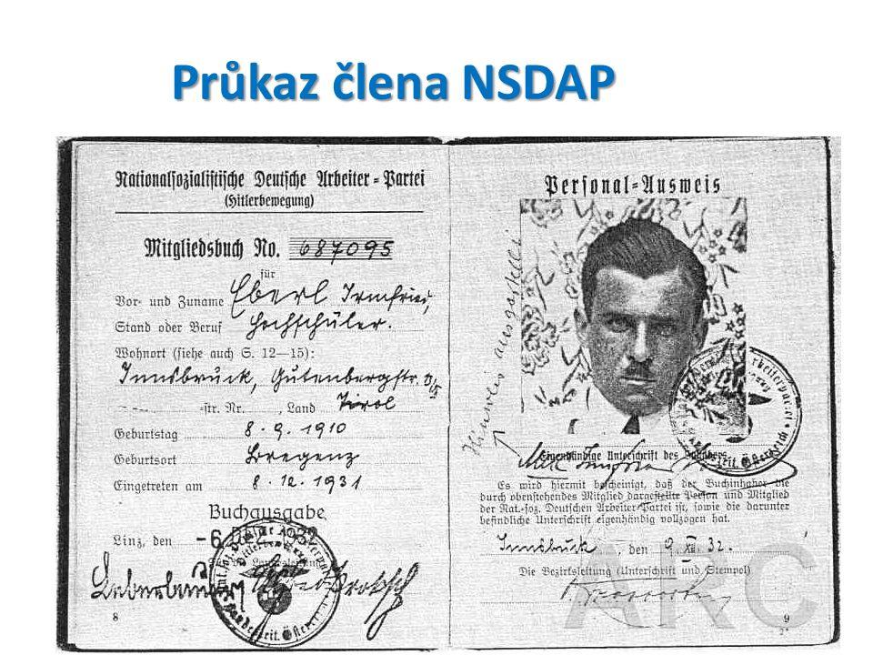 Průkaz člena NSDAP
