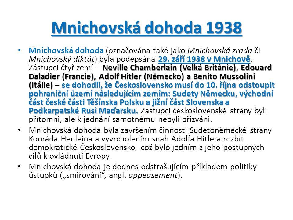 Mnichovská dohoda 1938 29.