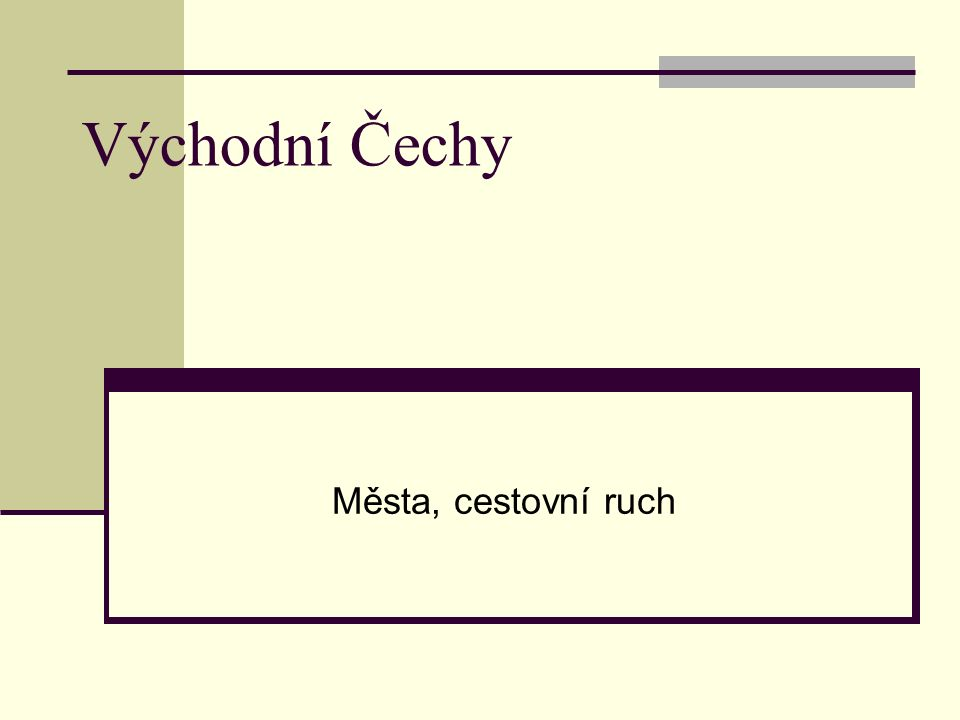 Východní Čechy Města, cestovní ruch