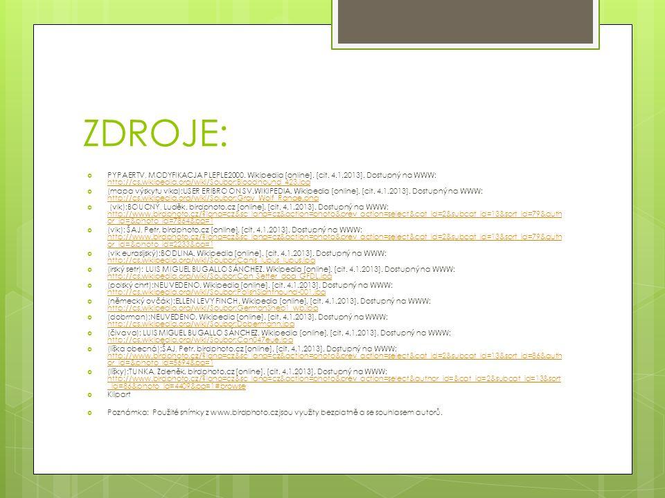 ZDROJE:  PYPAERTV, MODYFIKACJA PLEPLE2000. Wikipedia [online].