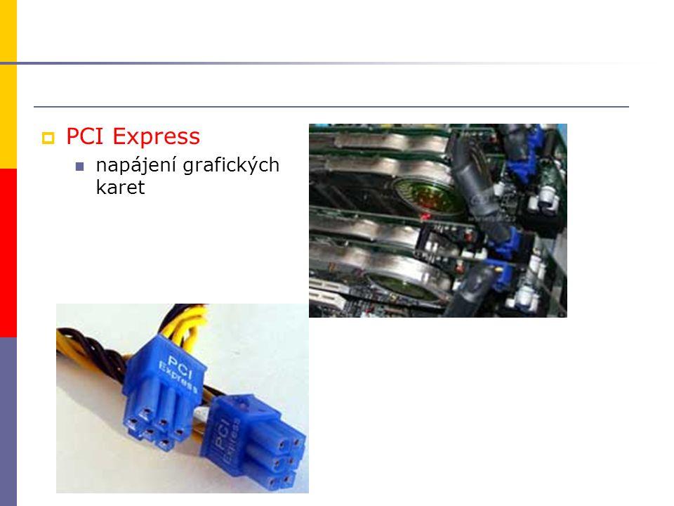  PCI Express napájení grafických karet