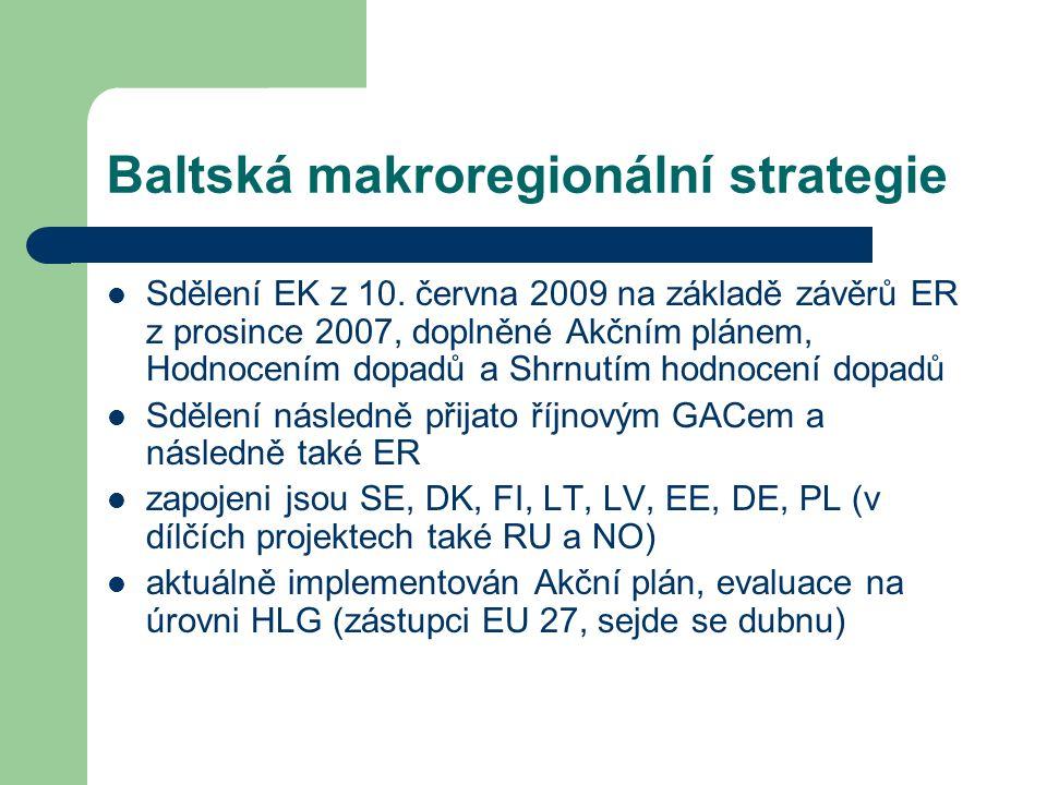 Baltská makroregionální strategie Sdělení EK z 10.