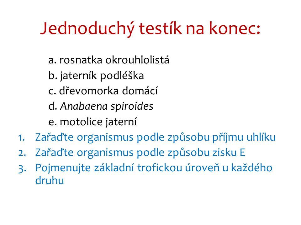 a.rosnatka okrouhlolistá – je masožravka → mixotrof b.