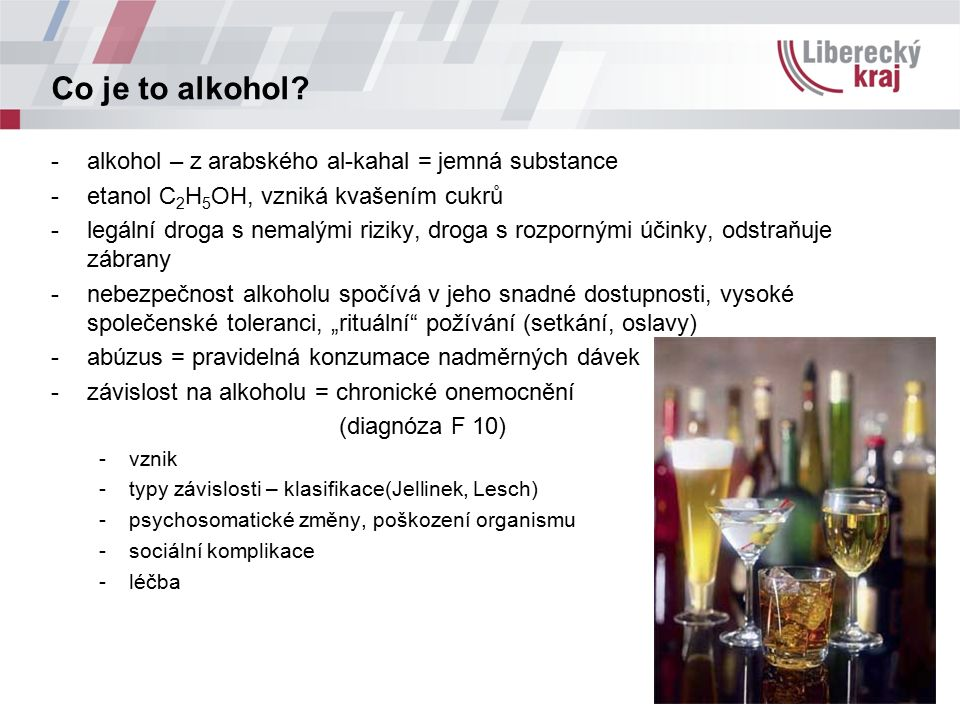 Co je to alkohol.