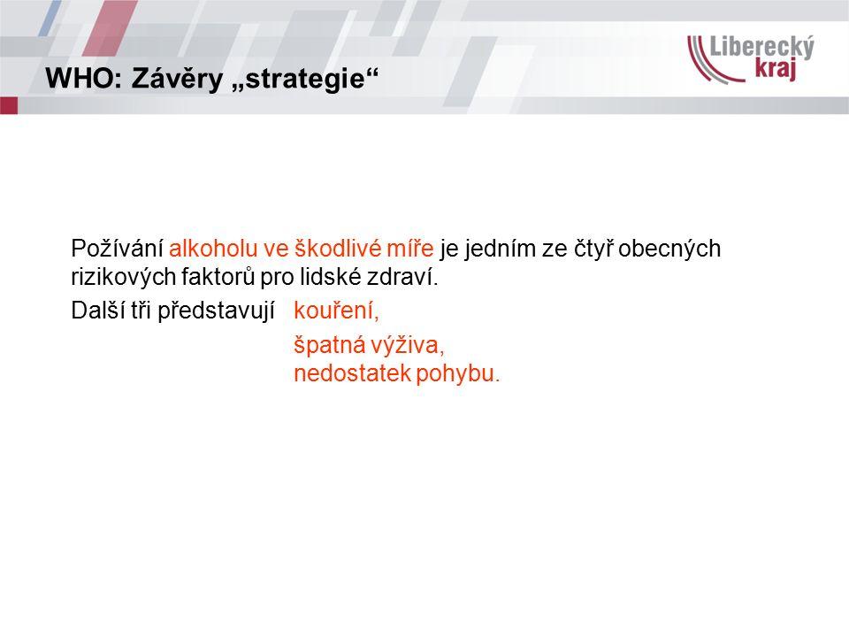 Vývoj spotřeby alkoholických nápojů v ČR Zdroj: ČSÚ, 2011