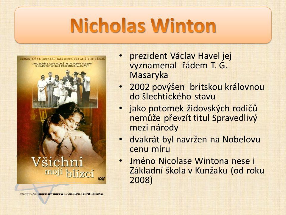 Otázky Jak pomohl Nicolas Winton židovským dětem.Kolik dětí zachránil.