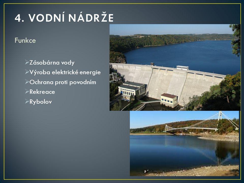 Funkce  Zásobárna vody  Výroba elektrické energie  Ochrana proti povodním  Rekreace  Rybolov