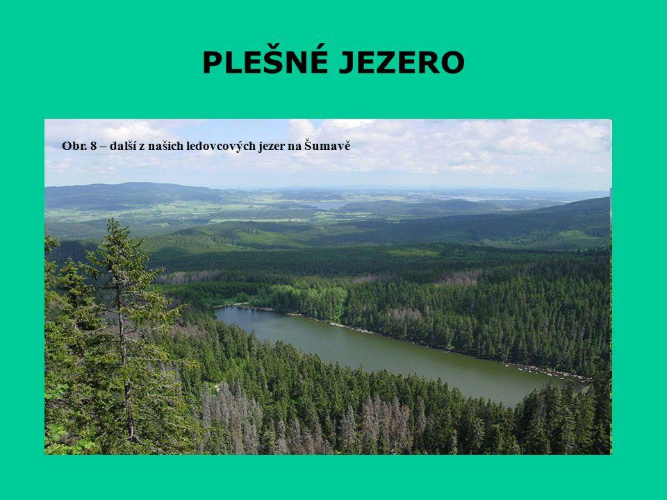 PLEŠNÉ JEZERO Obr. 8 – další z našich ledovcových jezer na Šumavě