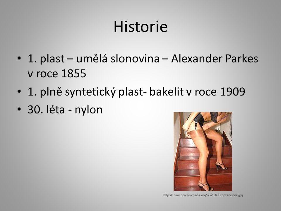 Historie 1. plast – umělá slonovina – Alexander Parkes v roce 1855 1.