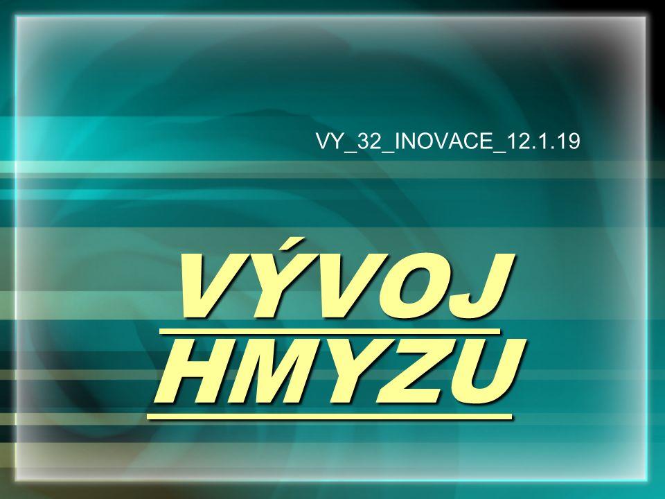 VÝVOJ HMYZU VY_32_INOVACE_12.1.19
