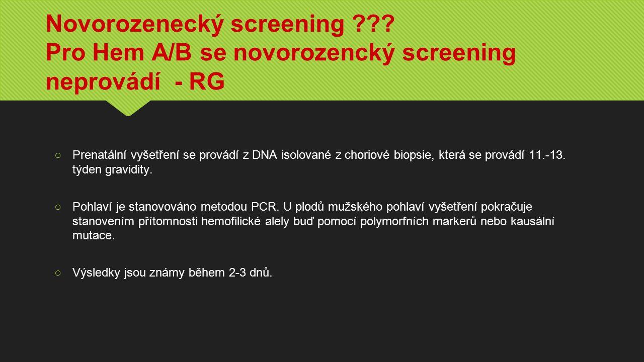 Novorozenecký screening .