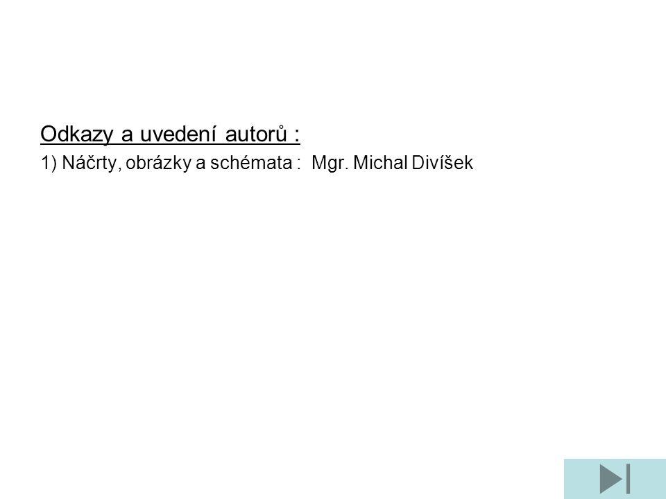 Odkazy a uvedení autorů : 1) Náčrty, obrázky a schémata : Mgr. Michal Divíšek