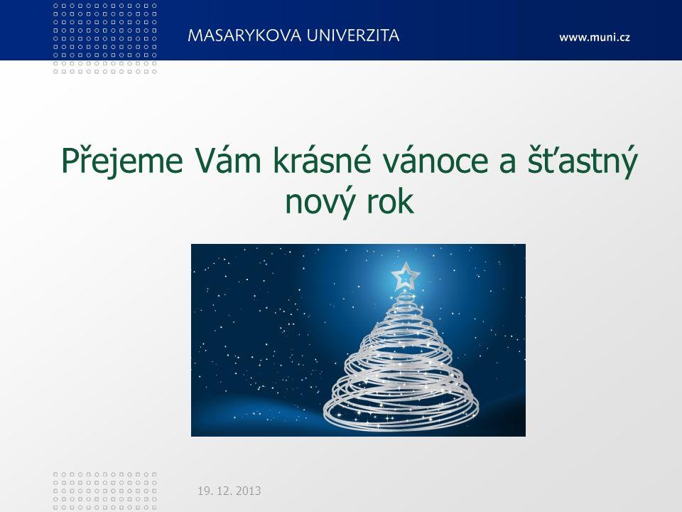Přejeme Vám krásné vánoce a šťastný nový rok