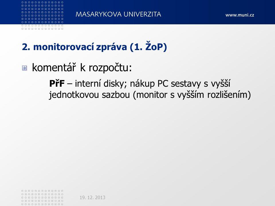 2. monitorovací zpráva (1.