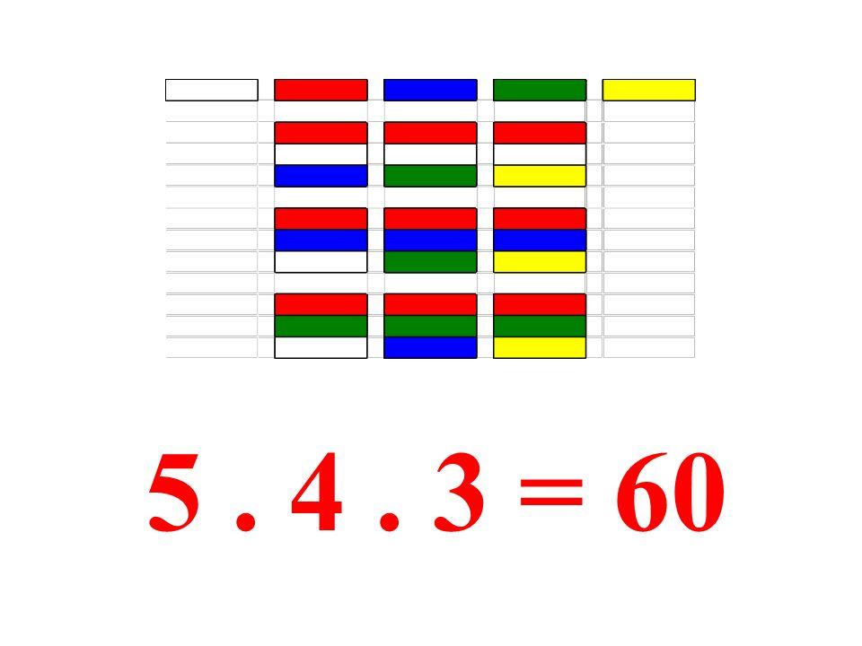 A jak dál … 5. 4. 3 = 60