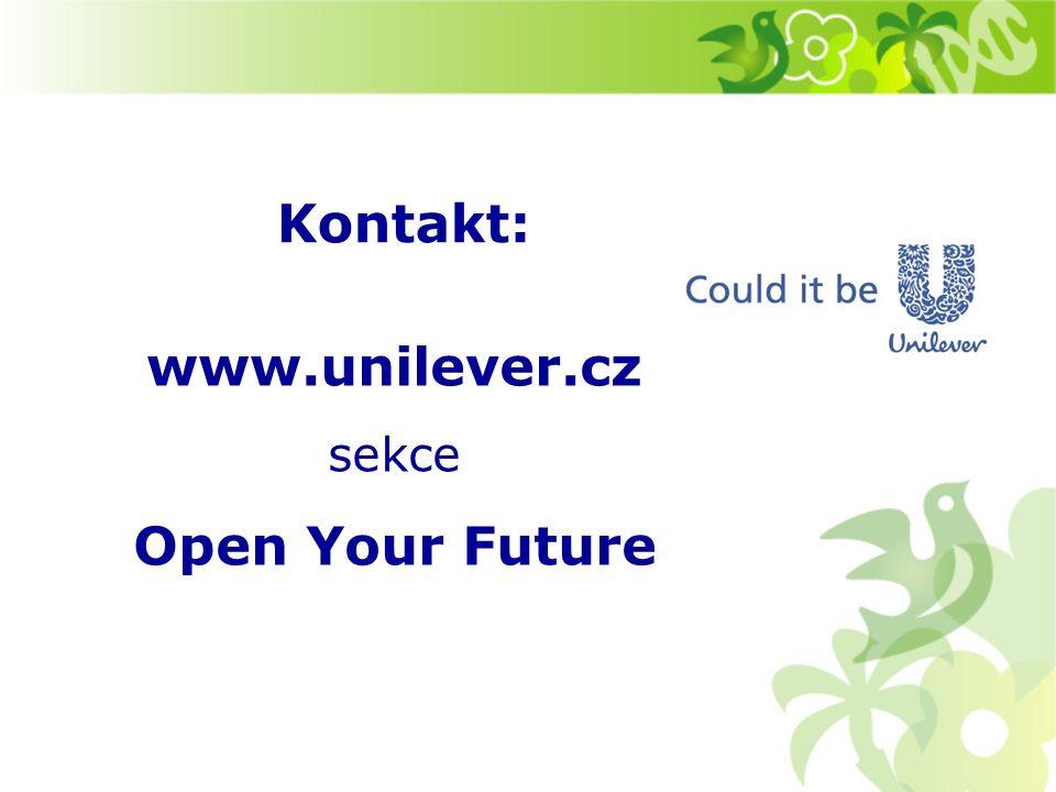 www.unilever.cz sekce Open Your Future Kontakt: