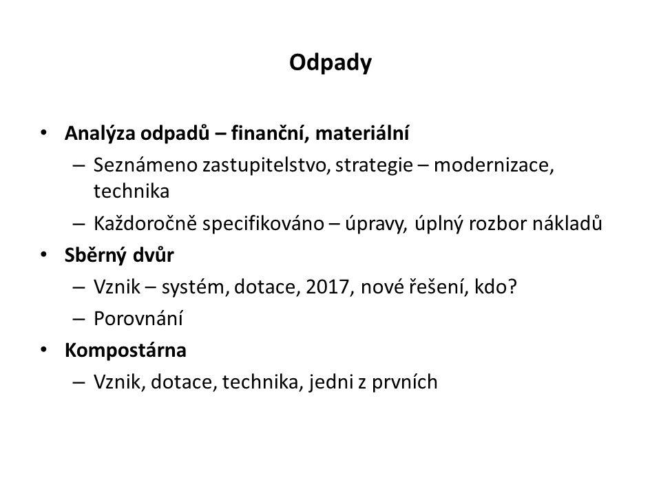 Odpady Skládka – Hromádky, TZS, úprava.