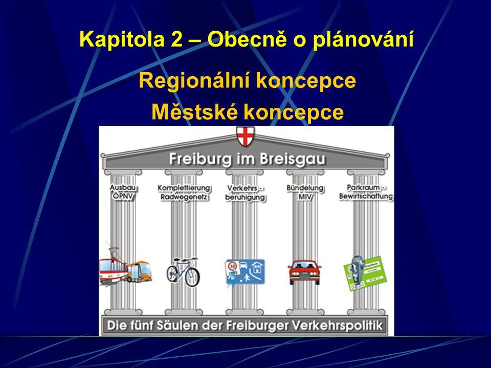 Kapitola 2 – Obecně o plánování Regionální koncepce Městské koncepce