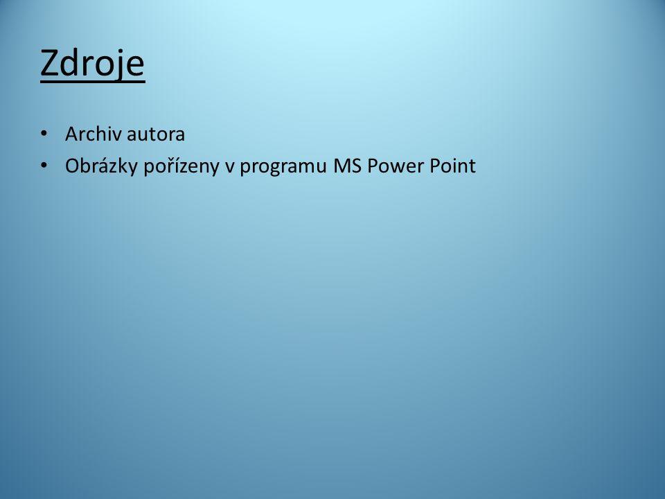 Zdroje Archiv autora Obrázky pořízeny v programu MS Power Point
