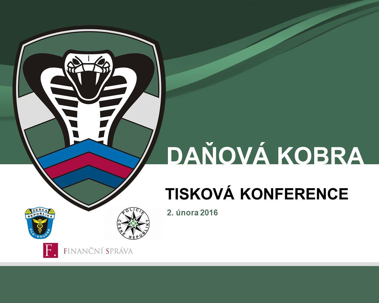 2. února 2016 TISKOVÁ KONFERENCE